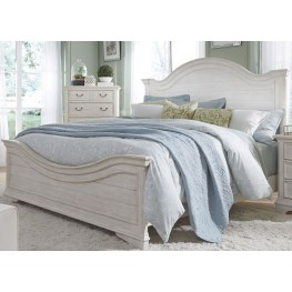 Bayside White King Panel Bed