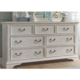 Bayside White 7 Drawer Dresser