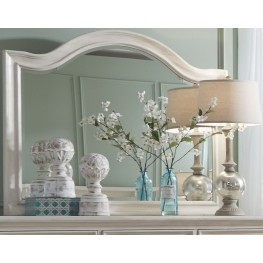 Bayside White Arched Mirror