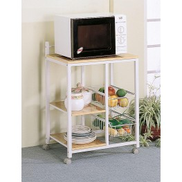 Natural/ White Serving Cart 2506