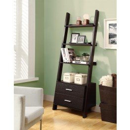"2542 Cappuccino 69"" Ladder Bookcase"