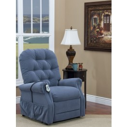 Aaron Williamsburg Blue Tufted Three Way Reclining Lift Chair