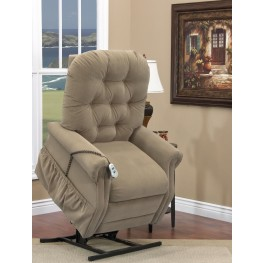Aaron Light Brown Wide Two Way Reclining Lift Chair