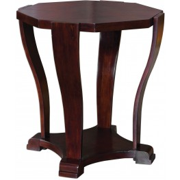 Pallavi Octagon Brown Accent Table