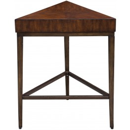 Ingo Triangle Brown Accent Table