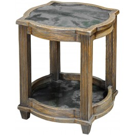 Olani Brown Weather Oak Accent Table