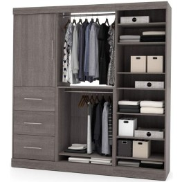 Nebula Bark Gray 80'' Storage Kit with Two 3-Drawer Set