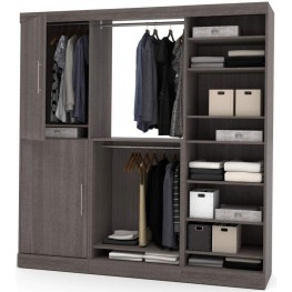 Nebula 80'' Bark Gray Storage Kit