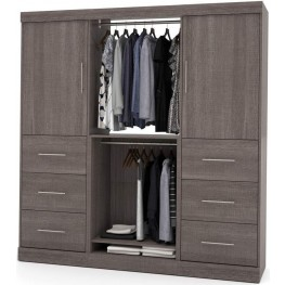 Nebula 80'' Bark Gray Storage Kit with 3-Drawer Set