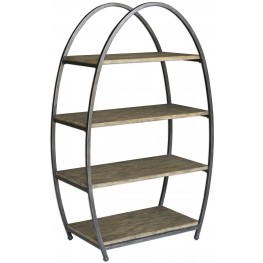 Matisa Gray Textured Steel Etagere