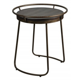 Rayen Brown Round Accent Table