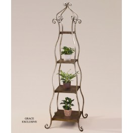 Lilah Silver Leaf Etagere