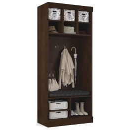 """Pur Chocolate 36"""" Storage Unit With Bench"""