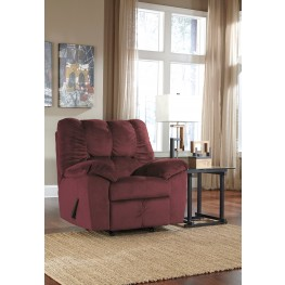 Julson Burgundy Rocker Recliner