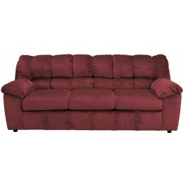Julson Burgundy Stationary Sofa