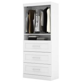 "26872 Pure White 36"" 3 Drawer Storage Unit"