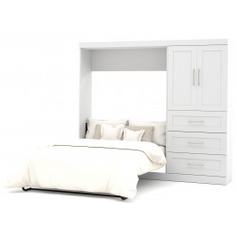 "26897 Pure White 95"" Door Full Wall Bed"