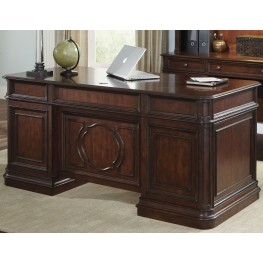 Brayton Manor Cognac Jr Executive Desk ...