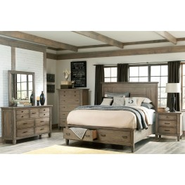 Brownstone Village Panel Storage Bedroom Set