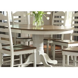 Springfield Honey and Cream Extendable Pedestal Dining Table