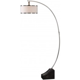 Kelcher Nickel Arc Floor Lamp