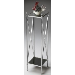 Modern Expressions Nickel Pedestal Plant Stand