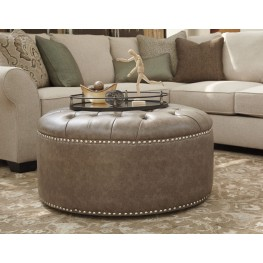 Wilcot Gray Oversized Accent Ottoman