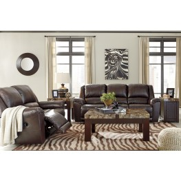 Yancy Walnut Reclining Living Room Set