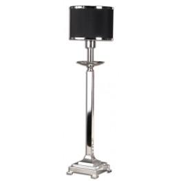 Tuxedo Silver Buffet Lamp