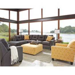 Kirwin Nuvella Gray LAF Sectional