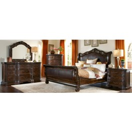 Valencia Upholstered Sleigh Bedroom Set