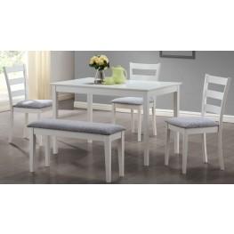 1210 White 5 Piece Dining Set