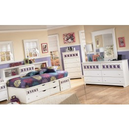 Zayley Bookcase Bedroom Set