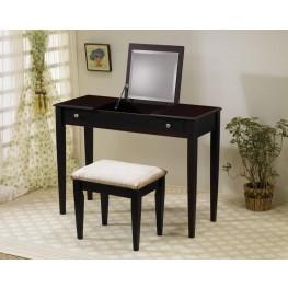 Cappuccino Vanity & Stool Set 300080