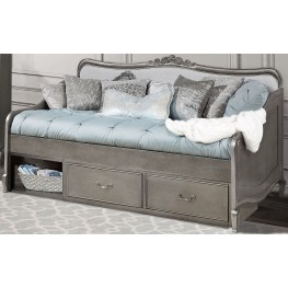 Kensington Antique Silver Elizabeth Daybed With Storage