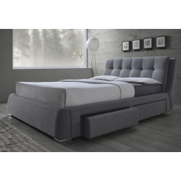 Fenbrook Gray Queen Platform Storage Bed