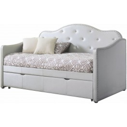 Dillane Pearl White Upholstered Youth Daybed