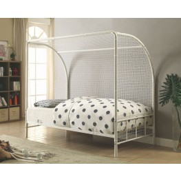 Bennette Youth White Twin Soccer Bed