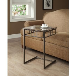 3043 Cappuccino Marble / Bronze Metal Snack Table