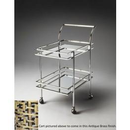 3139226 Gatsby Loft Nickel Bar Cart