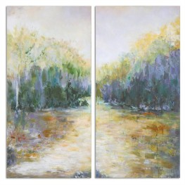Summer View Landscape Art Set of 2