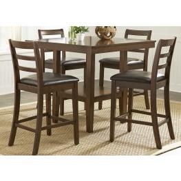Bradshaw Russet 5 Piece Gathering Dining Room Set