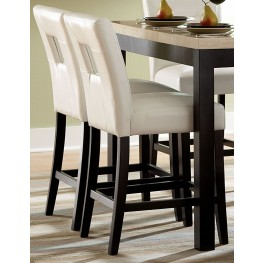 Archstone White Bi-Cast Vinyl Counter Height Chair Set of 2