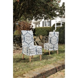 Homecoming Vintage Pine Custom Slipcover For Chair Set of 2