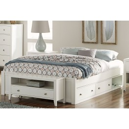 Pulse White King Platform Bed With Storage