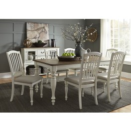Cumberland Creek Nutmeg and White Extendable Rectangular Leg Dining Room Set