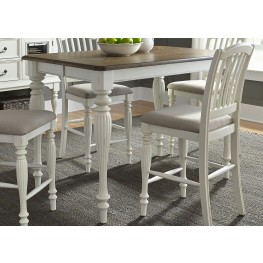 Cumberland Creek Nutmeg and White Counter Height Extendable Gathering Dining Table
