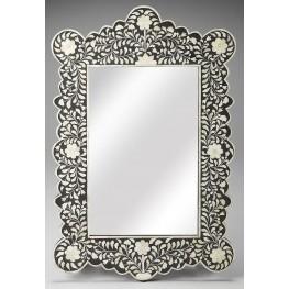 3482318 Black Bone Inlay Wall Mirror
