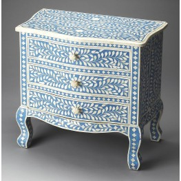 Blue Bone Inlay Accent Chest