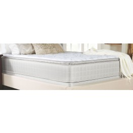 Marbella II Gray Pillow Top Full Mattress With Foundation